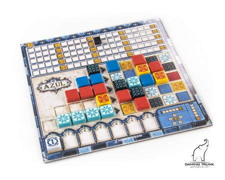 Acrylic overlays for the Azul™ player board by Gaming Trunk