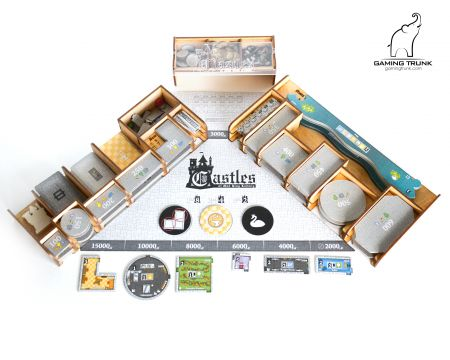 Mad King Organizer for the Castles of Mad King Ludwig Board Game by Gaming Trunk