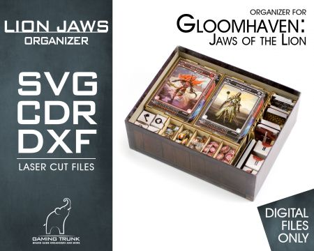 Digital file | Lion's Jaws Organizer for Gloomhaven: Jaws of the Lion