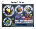 Acrylic overlay without backboard for Terraforming Mars player mats. Design 3 - CIRCLES